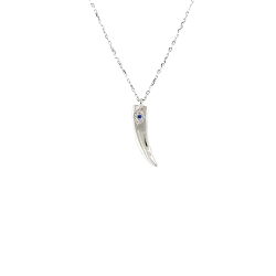 SILVER 925 EYE NECKLACE WITH HORN AND ZIRCON ZN1616W