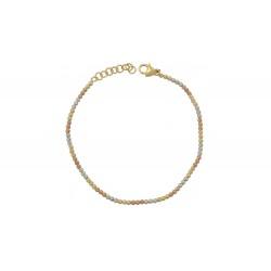 GOLD WHITE AND ROSE GOLD BRACELLET ΒΡ6087