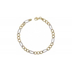 GOLD BRACELET TWO COLORS OF ITALIAN DESIGN K14 BR6105