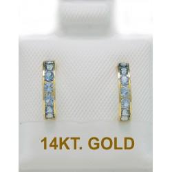14ct Gold GOLD EARRINGS WITH AQUA MARINE ER2475