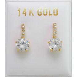 14ct Gold GOLD EARRINGS SMALL 6mm ZIRCON ER2949