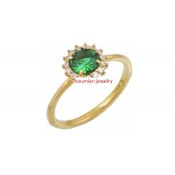 gold ring 14k rozeta Δ6041