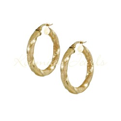 EARRINGS GOLD RINGS 14K MATT SAGRE K POLISH POLISH ΣΚ101