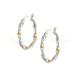 EARING TWO TONE GOLD ANG WHITE GOLD 14K ΣΚ120