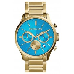 Michael Kors BAILEY MK5910 GOLD PLATED WITH BLUE COUNTER K SURPRICE BOX 25E