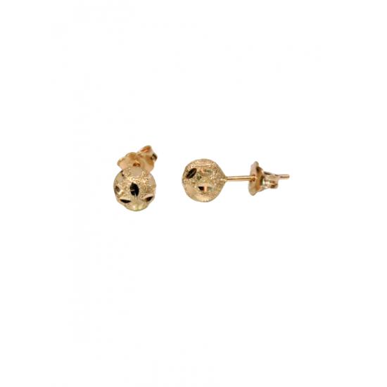 14 GOLD GOLD EARRINGS SATINE BALLS SATINE ITALIAN DESIGN SK25 KUMIAN