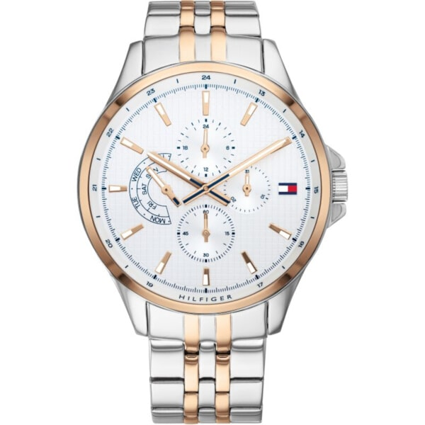 1791617 Tommy Hilfiger Watch two tone   surprice  gift box silver jewel 29e