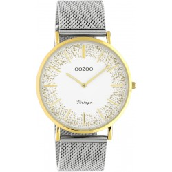 oozoo c20135 two tone silver gold vintage