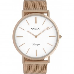 oozoo rose gold white dial vintage c9916