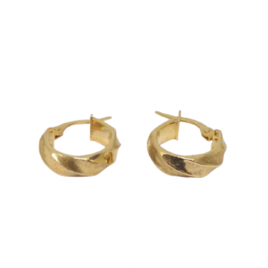 EARRINGS CROWNS GOLD CART 14 MATTRESS BUCKLE AND GLOSSY K25