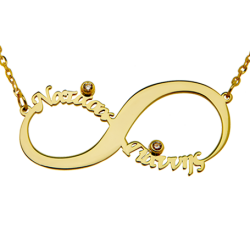 Classic Infinity ME 2 Names and Zircon from silver 925 in different colors