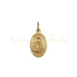 GOLD 14 KARAT VIRGIN WITH LASER ENGRAVING HANDMADE KUMIAN KF18