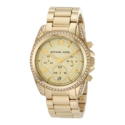 MICHAEL KORS RUNWAY MK5166 WATCH GOLD PLATED WITH STONES IN THE WREATH
