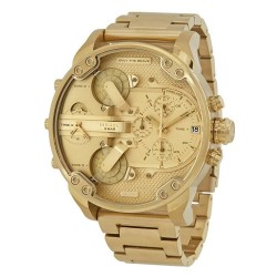 Diesel MR. DADDY 2.0 LARGE GOLD PLATED DZ7399 with 4 different motors