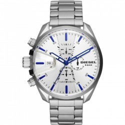 Diesel MS9 DZ4473 steel with blue details FREE SHIPPING