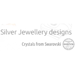 Necklace silver love with swarovski elements SW1