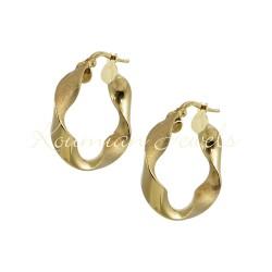 EARRINGS RINGS GOLD 14K MATT POLISH KR1
