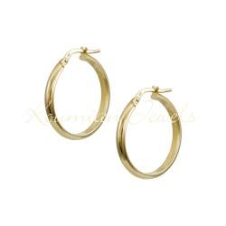 EARRINGS RINGS GOLD 14K VARNISH KR3