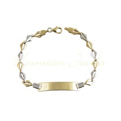 IDENTITY 14ct GOLD UNISEX TWO COLOR HANDMADE